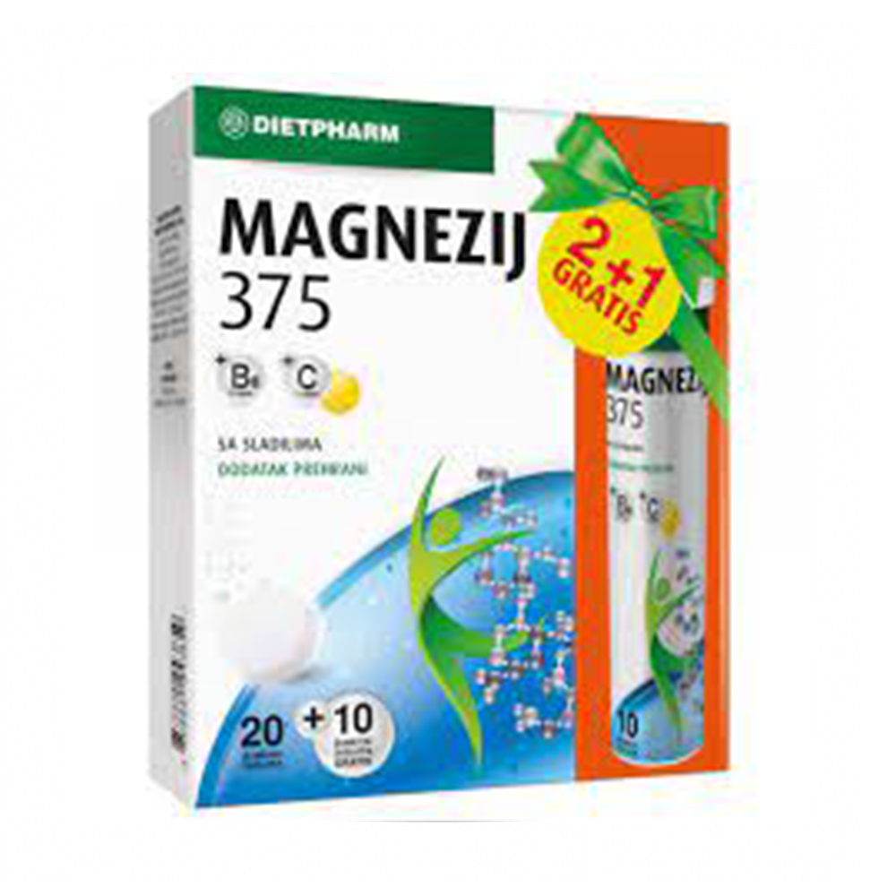 Dietpharm Magnezij 375+B6+C ŠUMEĆE TBL. 2+1gratis