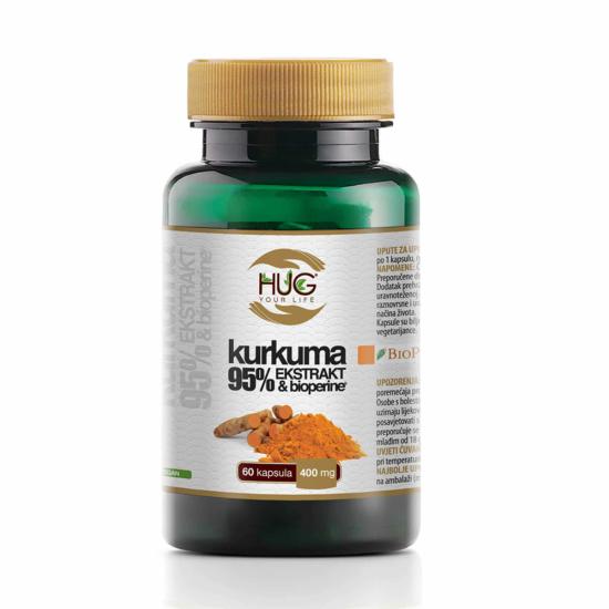 Kurkuma 95% ekstrakt i BioPerine,