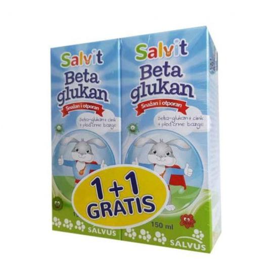 SALVIT BETA GLUKAN 150ml, 1+1 GRATIS