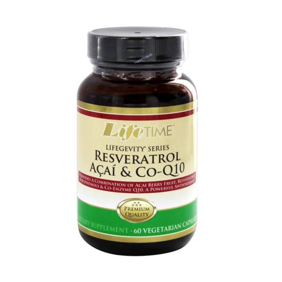 LIFE TIME Resveratrol, Acai & Co-Q10, 60caps